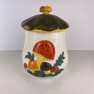 Vintage 1970's Arnel's Ceramic Mushroom Cookie Jar